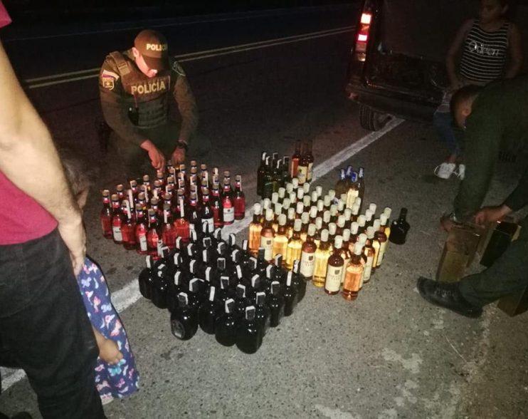 Policía incauta licor adulterado avaluado en màs de diez millones de pesos