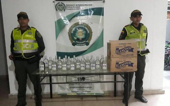 Policía Nacional realiza fuertes controles al licor de contrabando y adulterado