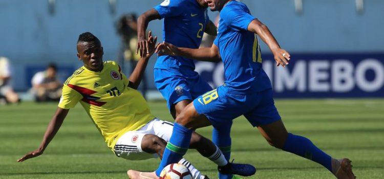 Empate sin goles entre Colombia y Brasil en el Sudamericano Sub-20