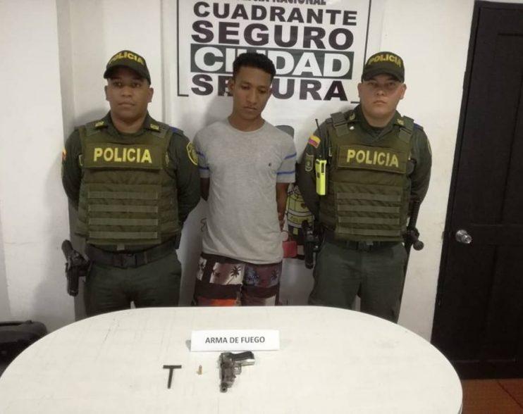 Capturado por porte ilegal de arma de fuego