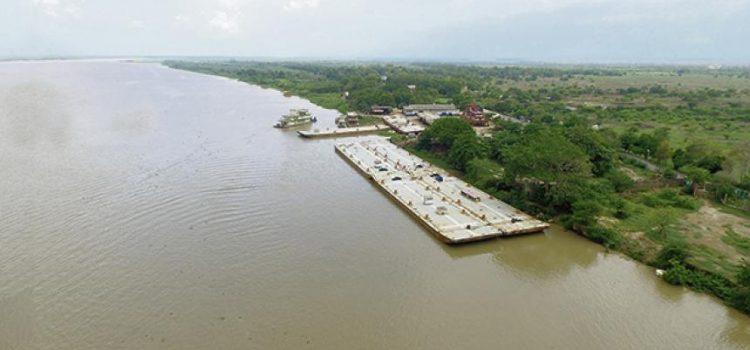 Por efectos del Fenómeno de El Niño nivel del río Magdalena bajó
