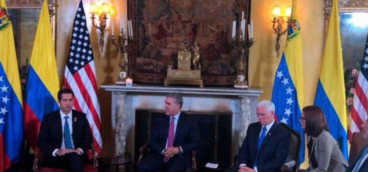 Vicepresidente de Estados Unidos aseguró a Guaidó respaldo total