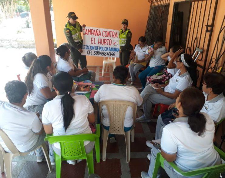 Policía realiza campaña de prevención de hurto a personas