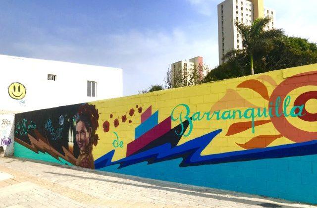 Locura de colores en la carrera 50 con mural que rinde homenaje a Esthercita