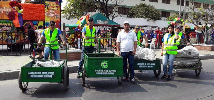 Barranquilla Verde y red de Recuperadores Ambientales recolectaron más de 36 toneladas de reciclaje en Carnaval
