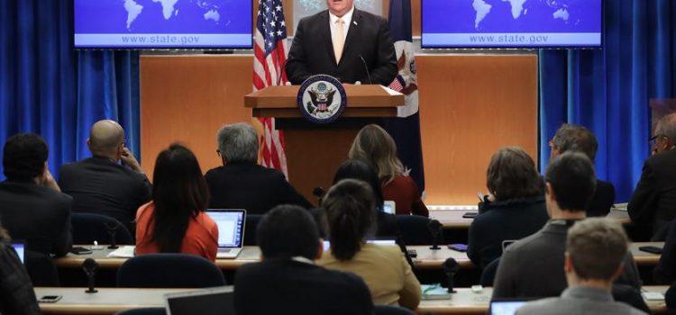 «EE. UU. no se quedará de brazos cruzados mientras Rusia exacerba las tensiones en Venezuela»: Mike Pompeo