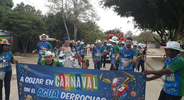 Cuidar el agua, mensaje de Aguas del Sur del Atlántico en desfiles de carnaval