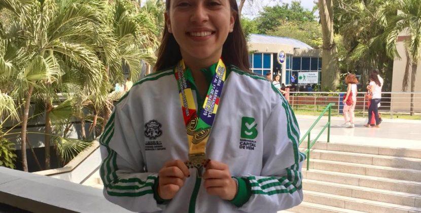 Oro para Natalia Bernal, del Team Barranquilla, en Juegos Regionales ASCÚN