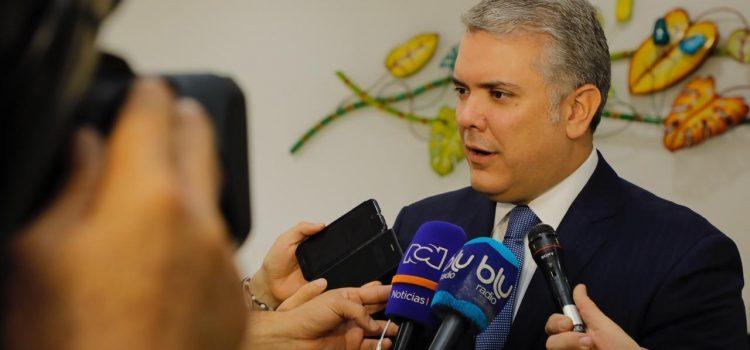 «Si 'Santrich' pretende eludir la justicia aquí está el Estado de derecho para hacerse respetar»: Duque
