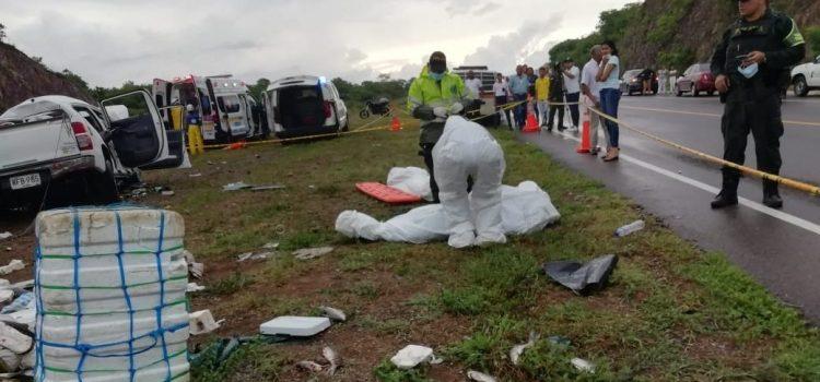 Cinco muertos por accidente en Bosconia