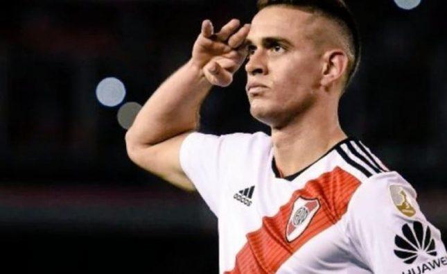 Gol de Santos Borré en victoria de River por Copa Libertadores
