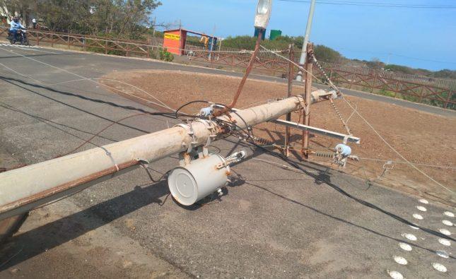 Vendaval afectó servicio de energía en el Centro, Sur y zona costera del Atlántico